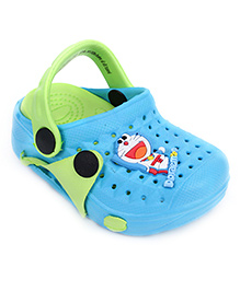 Doraemon Clogs With Back Strap - Blue And Green