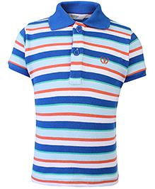 Beebay Half Sleeves T-Shirt Stripe Pattern - Blue