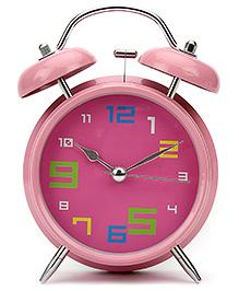 Kids Alarm Clock Round Shape - Pink
