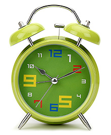 Kids Alarm Clock Round Shape - Green