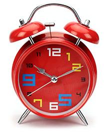 Kids Alarm Clock Round Shape - Red