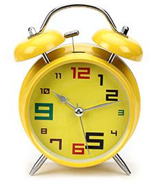 Kids Alarm Clock Round Shape - Yellow