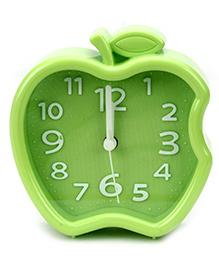 Quartz Alarm Clock Apple Shape - Green