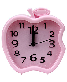 Quartz Alarm Clock Apple Shape - Pink