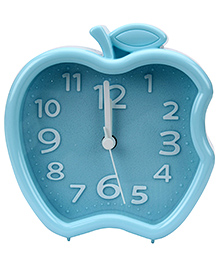 Quartz Alarm Clock Apple Shape - Aqua Blue