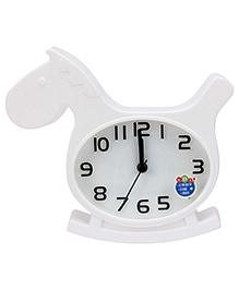 Kids Alarm Clock Horse Shape - White