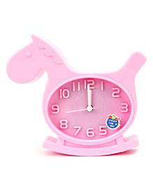 Kids Alarm Clock Horse Shape - Pink