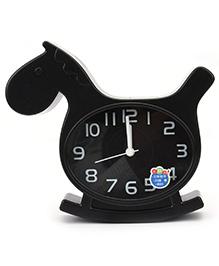 Kids Alarm Clock Horse Shape - Black