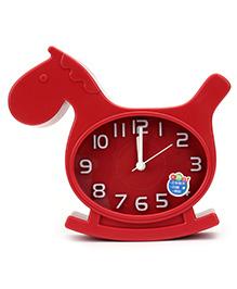 Kids Alarm Clock Horse Shape - Red