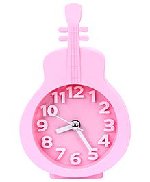 Kids Alarm Clock Guitar Shape - Pink
