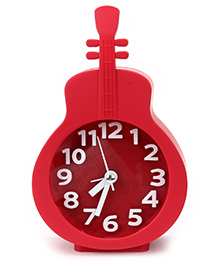 Kids Alarm Clock Guitar Shape - Red
