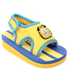 Garfield Sandal With Velcro Closure - Yellow