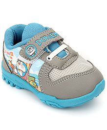 Doraemon Casual Shoes With Velcro Closure - Grey