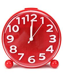 Kids Alarm Clock Round Shape - Red And White