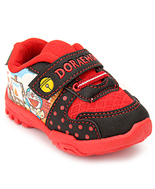 Doraemon Casual Shoes With Velcro Closure - Red