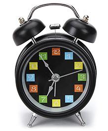 Kids Alarm Clock Round Shape - Black