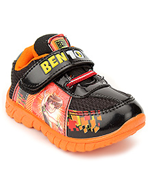 Ben 10 Casual Shoes With Velcro Closure - Black And Orange