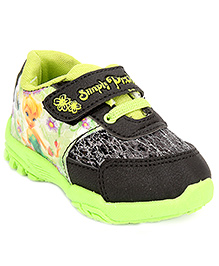 Disney Casual Shoes With Velcro Closure - Black And Light Green