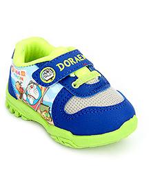 Doraemon Casual Shoes With Velcro Closure - Blue