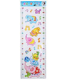 Growth Chart Wall Decor Sticker Elephant Print - Multicolour