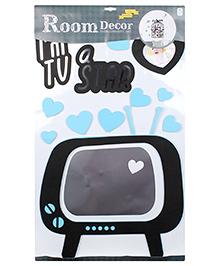 EVA Frame Wall Sticker TV Design - Black And Blue