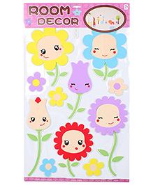 Room Decor Wall Sticker Floral Design - Multicolour