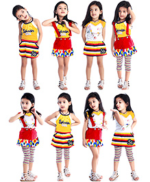 N - XT Multi Piece Clothing Set Pack Of 5 - Yellow And Red