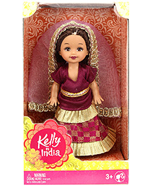 Barbie Kelly In India Doll Maroon - Height 11 Cm
