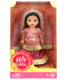 Barbie Kelly In India Doll Pink - Height 11 Cm