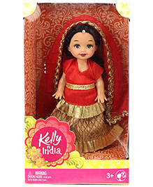 Barbie Kelly In India Doll Red - Height 11 Cm