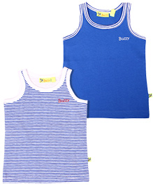 Buzzy Sleeveless Vest Pack Of 2 - Blue