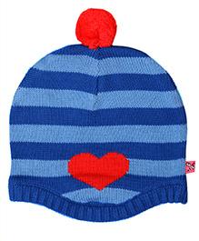 Buzzy Cap With Heart Design - Blue