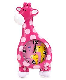 Alarm Clock Giraffe Shape - Pink