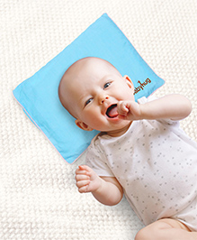 Babyhug Rai Seed Filling Rectangle Pillow - Sky Blue
