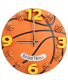 Basketball Shape Kids Wall Clock - Orange