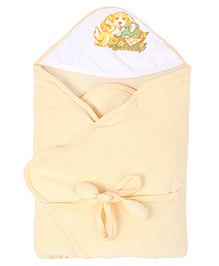 Tinycare Hooded Deluxe Towel - Peach