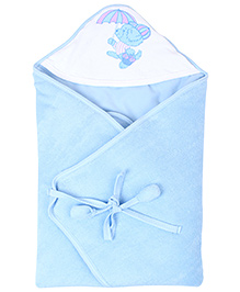 Tinycare Hooded Deluxe Towel Umbrella Print - Blue