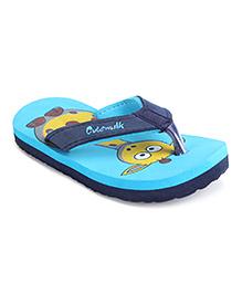 Cute Walk by Babyhug Flip Flops Giraffe Design - Navy Teal Blue