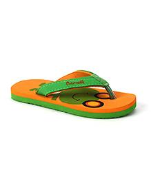 Cute Walk by Babyhug Flip Flops Frog Design - Orange