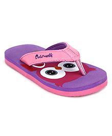 Cute Walk by Babyhug Flip Flops Owl Design - Purple