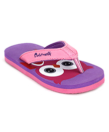 Cute Walk by Babyhug Flip Flops Owl Design - Purple