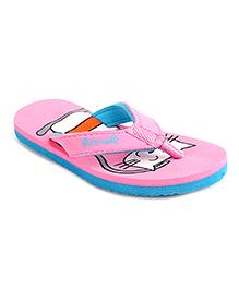 Cute Walk by Babyhug Flip Flops Cat Design - Pink Blue