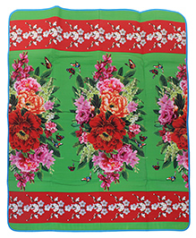 Floral Print Play Mat - Multicolor