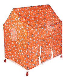 Lovely Play House Tent Star Print - Orange