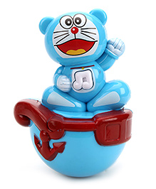 Roly Poly Kitty Face - Blue And White