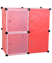 Four Shelves Storage Rack - Pink
