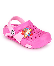 Cute Walk Clogs With Back Strap - Pink