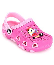Cute Walk Clogs Vehicle Motif - Pink
