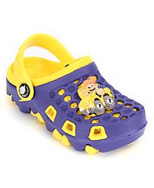 Cute Walk Clogs Car Motif - Blue And Yellow