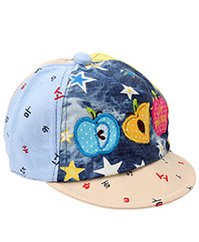 Babyhug Summer Cap Fruit Embroidery - Cream